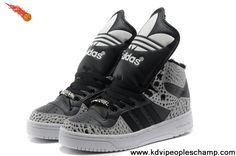 Buy Cheap Adidas X Jeremy Scott Big Tongue Villi Shoes Carton Black Fashion Shoes Shop