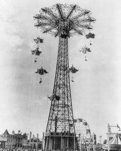 Coney Island Steeple Parachute Jump 1940 8x10 Reprint Of Old Photo   eBay