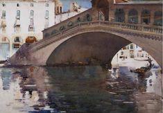 The Rialto, Venice. Arthur Melville ARSA RSW (1855–1904). 1894.