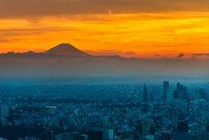 Fuji and Tokyo by Tatsuro Ogata, via 500px
