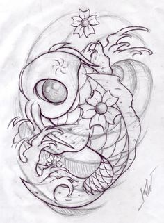 koi fish drawings | Koi Sketch number two by ~SweetNights on deviantART