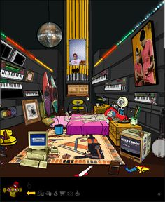 Gorillaz : 2D's room. would love to have a room like this