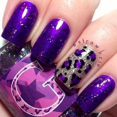 18 Purple Nail Art Designs - This combination of sparkles and color is a match made in sparkly heaven. It is said that the color purple has the power to uplift and inspire creativity and these 18 purple nail art designs are creative in every way. Nail Art Designs, Purple Nail Designs, Nails Design, Nail Art 2014, Purple Nail Art, Purple Glitter, Purple Gold, Glittery Nails, Glitter Art