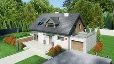 Wizualizacja Dom przy Alabastrowej 6 CE Bungalow Extensions, 100 M2, Dom, Tiny House Living, Design Case, Home Fashion, Cladding, Home Projects, Sweet Home
