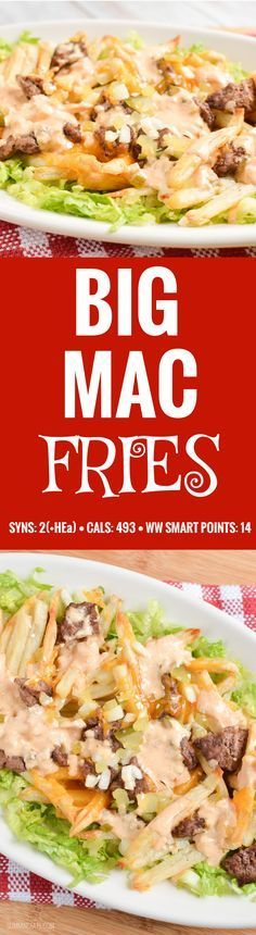 Slimming Eats Big Mac Fries - gluten free, Slimming World and Weight Watchers friendly astuce recette minceur girl world world recipes world snacks Slimming World Tips, Slimming World Dinners, Slimming World Recipes Syn Free, Slimming Eats, Fake Away Slimming World, Slimming World Smoothies, Slimming World Burgers, Slimming World Lunch Ideas, Healthy Smoothies