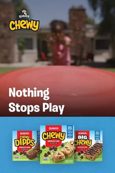 What's a backyard game without a snack break? Grab a Quaker Chewy bar and play on. Spicy Pickled Eggs, Oats Snacks, Chewy Granola Bars, Yogurt And Granola, Cookies And Cream, Chocolate Peanut Butter, Bald Eagle, Random Things, Diy Ideas