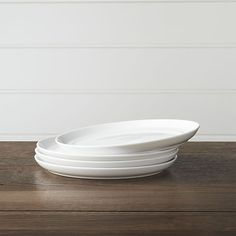 Set of 4 Hue White Salad Plates | Crate and Barrel