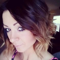 dark brown to blonde short ombre hair by tameka