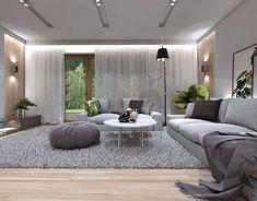 House on Behance Living Room Decor Furniture, Living Room Interior, Expensive Houses, Modern Room, Minimalist Home, Living Room Designs, Modern Design, New Homes, House Design