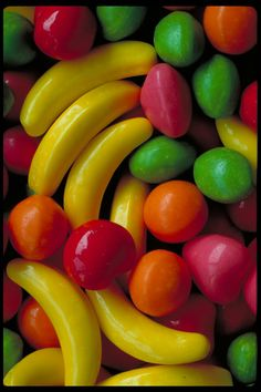 Fruit candies! I remember going to Humpty's and getting these from one of the machines in the lobby, a handful or so for a quarter :) Memories! :)