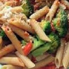 Penne with Red Pepper Sauce and Broccoli Recipe on Yummly
