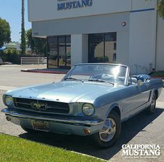 1965 Mustang Convertible Silver Blue