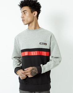 Ellesse Sweatshirt with Stripes   Shop men's clothing at The Idle Man