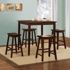 Nova 3 piece Kitchen Counter Height Dinette Set by iNSPIRE Q