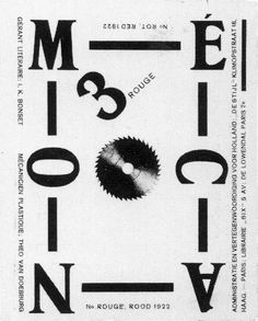 Theo Van Doesburg's Dada alter ego I. Bonset edited Mecano from This is issue (Red). Graphic Design Typography, Graphic Design Illustration, Modern Typography, Bauhaus, Theo Van Doesburg, Avantgarde, Design Graphique, Museum Of Modern Art, Visual Communication