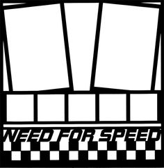 """Need For Speed"" 12 x 12 Overlay Laser Die Cut"