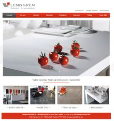 Slik ser nettsiden til Lenngren Naturstein ut. De bruker Idium Web+. Website, Vegetables, Design, Natural Stones, Vegetable Recipes, Veggies