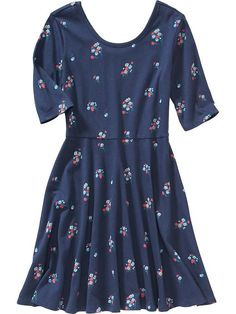 Girls Printed Skater Dress for Lily