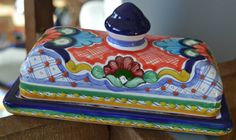 Authentic Mexican Talavera Butter Dish by Talaverapottery on Etsy
