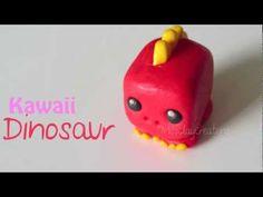 Easy Kawaii Dinosaur tutorial by MissClayCreations