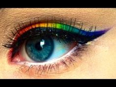 MAKEUP HOW TO: PERFECT OMBRE RAINBOW EYELINER