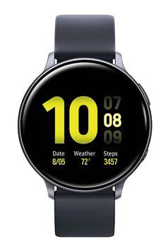 Samsung Galaxy Watch W/ Enhanced Sleep Tracking Analysis, Auto Workout Tracking, and Pace Coaching GPS, Bluetooth), Aqua Black - US Version with Warranty - Besttodaymart Samsung Galaxy S, Galaxy Phone, Samsung Handy, Samsung Device, Casio Edifice, Aqua, Fitbit, Faces Band, Outdoor Training