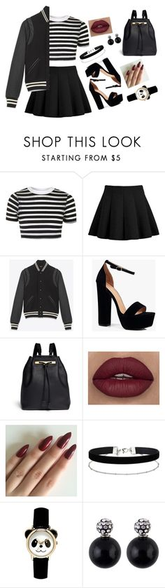 """Untitled #14"" by alexusdowning ❤ liked on Polyvore featuring Topshop, Yves Saint Laurent, Boohoo, The Row and Miss Selfridge"
