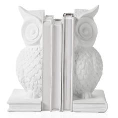 Owl Bookends - Set of 2 - White from Z Gallerie