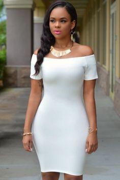White Off-the-shoulder Dress US  4.4 Quintessential and completely chic a9a7e2e724de