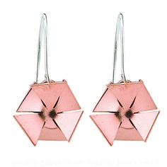 Tianguis Jackson Copper and Silver Hexagonal Drop Earrings - Mixed Metals