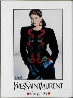 1989 YSL Rive Gauche adv - Angie Everhart by Arthur Elgort