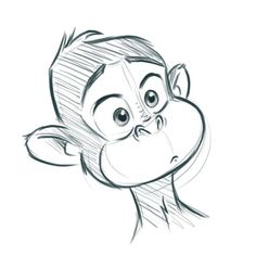 Late night sketch teil 1 sketch photoshop monkey chimp doodle chimp doodle monkey night photoshop sketch marisol saffegekritzel i love this print by julia marshall Cartoon Monkey Drawing, Drawing Cartoon Characters, Cartoon Sketches, Animal Sketches, Character Drawing, Drawing Sketches, Sketch Art, Character Sketches, Drawing Ideas