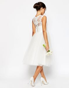 Image 2 ofASOS BRIDAL Lace Sweetheart Tutu Midi Dress