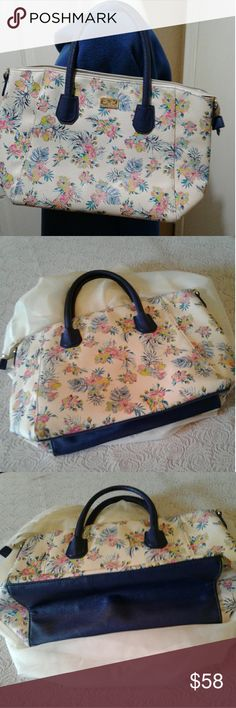Large Weekender Carry-on Digital Floral Design Ambesonne Retro Gym Bag