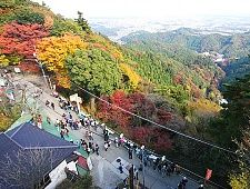 Less than an hour from central Tokyo, Mount Takao is one of the closest nature spots to the city. Various trails lead up the mountain and beyond. The main trail is paved and passes through the Yakuoin temple grounds before reaching the summit which offers views of Mount Fuji on clear days. Mount Takao can be crowded, especially on weekends.