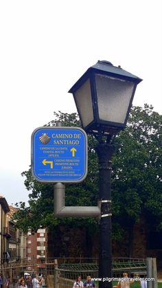 Right by the famous San Salvador Cathedral, to the West, there is both a signpost and a plaque marking the beginning of the Camino Primitivo. The sign post is on a lamppost and the plaque that marks the official beginning is just below it on the pavement.