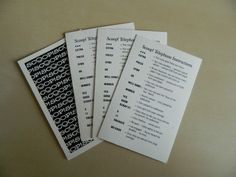 Waddingtons Scoop Telephone Instruction Cards - Vintage game pieces, crafts, upcycling