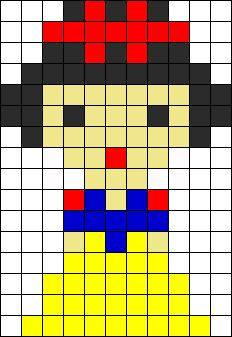 Disney Snow White perler bead pattern
