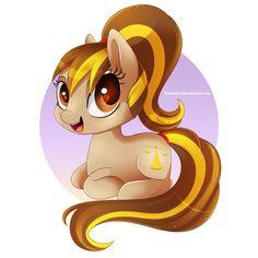 Giveaway Art: Chibi Pony by TheNornOnTheGo.deviantart.com on @DeviantArt