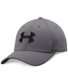 Under Armour Men s Blitzing Ii Stretch-Fit HeatGear Hat - Silver L XL Fitted a1a1a6e1cd