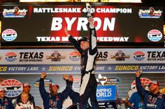 Teenager William Byron overhauled Matt Crafton with five laps remaining and drove to victory in the NASCAR Camping World Truck Series Rattlesnake 400 Friday night at Texas Motor Speedway. Byron, of Kyle Busch Motorsports, posted his second... #benkennedy #campingworldtruckseries #chaseelliott
