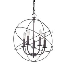 Shop for Cornerstone Williamsport 5 Light Chandelier In Oil Rubbed Bronze. Get free shipping at Overstock.com - Your Online Home Decor Outlet Store! Get 5% in rewards with Club O!