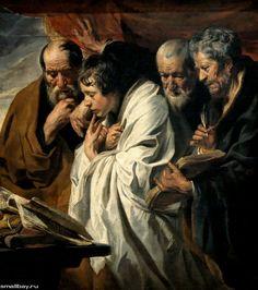 Четыре евангелиста 1622-1625. Музей Лувр, Париж. Jacob Jordaens. Якоб Йорданс