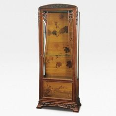 Louis Majorelle (France 1859–1926), Nancy,  Cabinet, Mahogany with Fruit Wood Inlays.