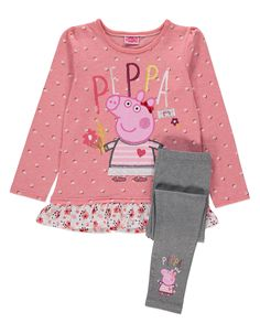 Peppa Pig Blossom Frill Top and Leggings Set | Kids | George at ASDA