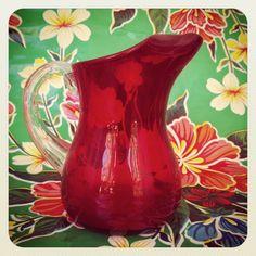 $52  Jarritas de cóctel en cristal y cerámica , años 60. via Bahía, confecciones, recuerdos y puestas de sol.. Click on the image to see more!
