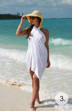 How to wear a pareo - Lilly is Love Summer Wear, Spring Summer Fashion, Vacation Outfits, Summer Outfits, Sarong Tying, Sarong Dress, Sarong Wrap, Outfit Strand, Beachwear Fashion