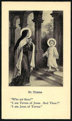 Child Jesus of Teresa Mom Prayers, Catholic Prayers, Catholic Art, Catholic Saints, Roman Catholic, Religious Art, Sainte Therese De Lisieux, Ste Therese, Vintage Holy Cards