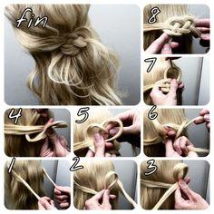 海外女子に大人気!ゴム無しでできるアレンジ術、「ノットヘアー」のやり方を伝授♡ - Yahoo! BEAUTY