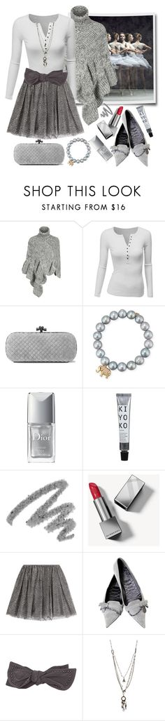 """Gray Tulle"" by loves-elephants ❤ liked on Polyvore featuring WithChic, Doublju, Bottega Veneta, Sydney Evan, Christian Dior, Yves Saint Laurent, Burberry, RED Valentino, Gucci and Love Heals"